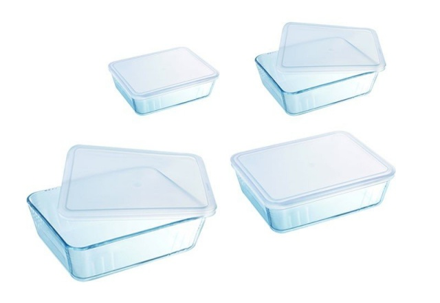 "Форма для жаркого Pyrex ""Storage Cook& Freeze"" прямоуг., крышка, 0,8л, 19*4см"