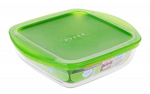 "Форма Pyrex ""Storage Cook&Store"" квадрат., крышка, 1л, 20*17*5,5см"