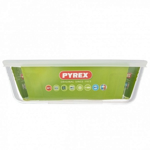 "Форма для жаркого Pyrex ""Storage Cook &Freeze"" прямоуг., крышка, 2,6л, 25*20см"